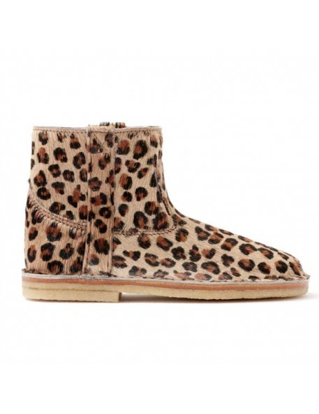 April Showers by Polder - Leopard Leather Boots - Mateo