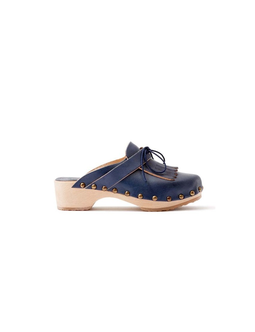 sabots fille cuir bleu marine mariel april showers by polder