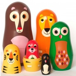 Ingela P Arrhenius - poupées russes matrioshka animals 'vers.1) - OMM DESIGN