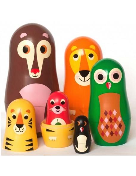 Ingela P Arrhenius - poupées russes matrioshka animals 'vers.1) - OMM DESIGN