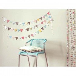 Les Colocataires - Multicolored Paper Garland - Flowers