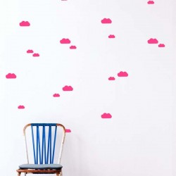 FERM LIVING - Mini clouds Wallsticker -neon
