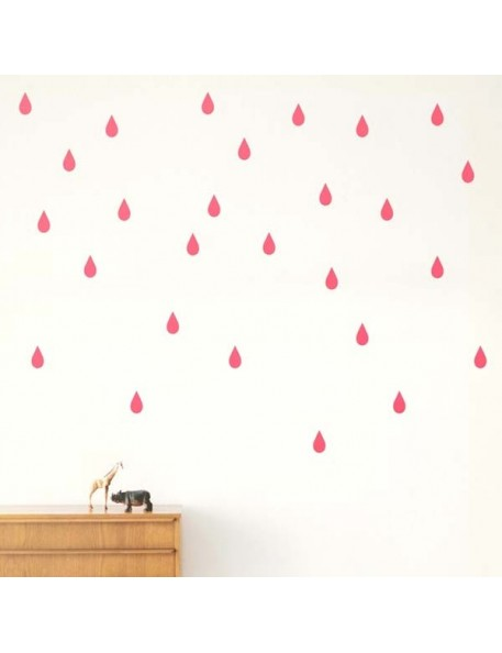 FERM LIVING - Mini drops Wallsticker -neon