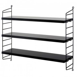 string furniture string pocket shelf black