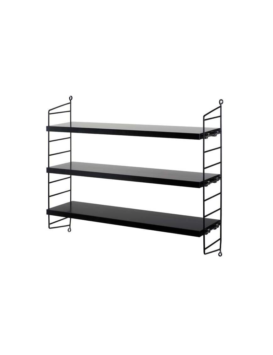 """[string furniture] étagère """"string pocket"""": noire"""