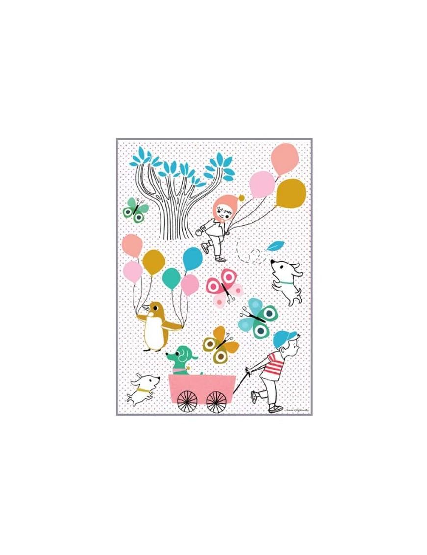 Tinou Le Joli Sénoville - Sticker Montgolfière