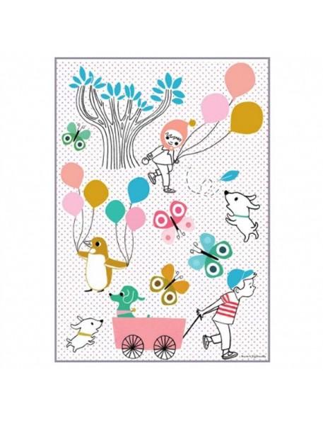 Tinou Le Joly Sénoville - Sticker Les Ballons