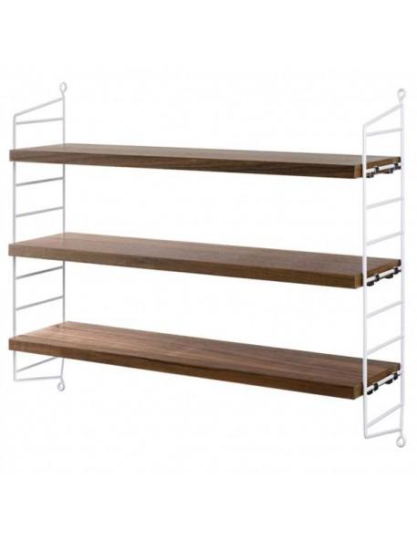 """[string furniture] étagère """"string pocket"""": blanc/noyer"""