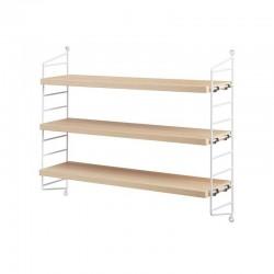 string furniture étagères string pocket frêne & blanc