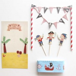 REx - Pirate fun cake bunting set