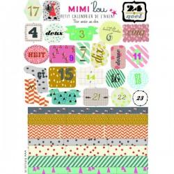 Mimi'Lou - Planche d'Etiquettes - Calendrier de l'Avent