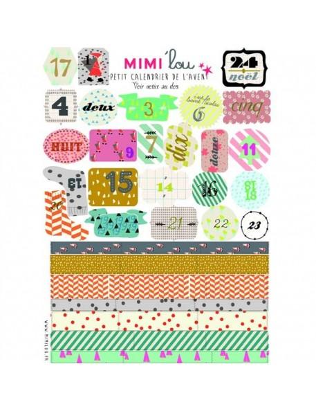Mimi'Lou Planche d'Etiquettes - Calendrier de l'Avent
