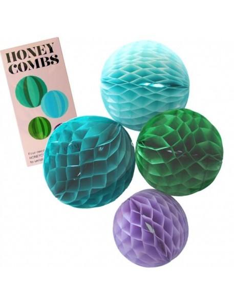 OMM - Set de 4 Honeycombs (boîte rose)