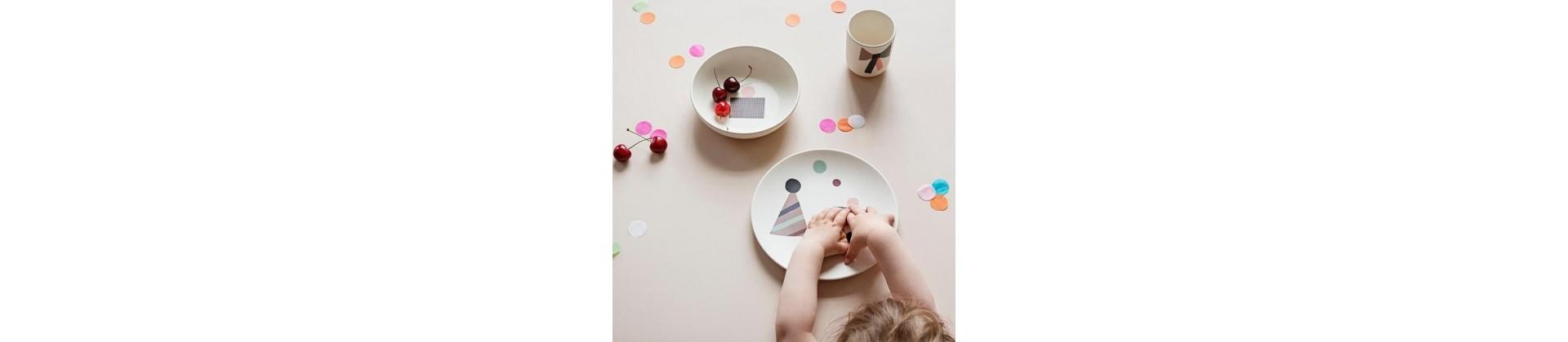 Vaisselle bébé : vaisselle bambou et coffret - Puériculture Bébé