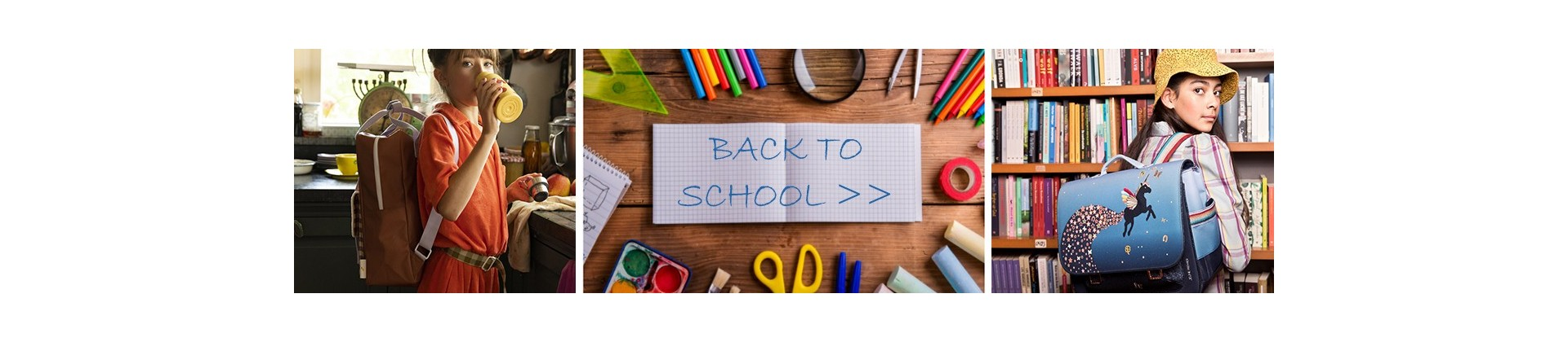 School bags, backpacks and suitcases