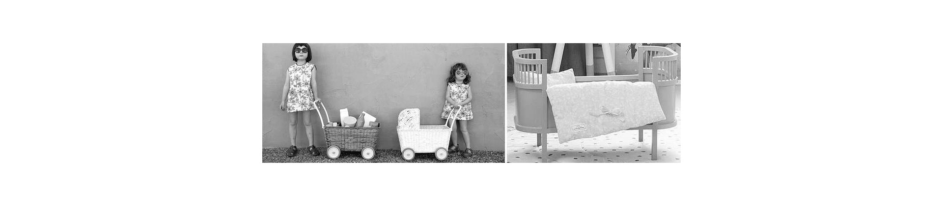 Doll's bed & doll bedding - toys from France
