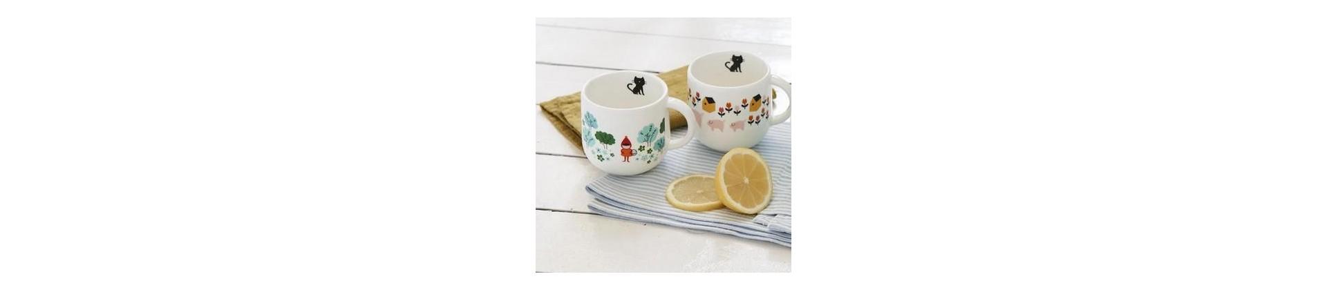 Vaisselle originale pour enfant : assiettes, couverts, mugs design