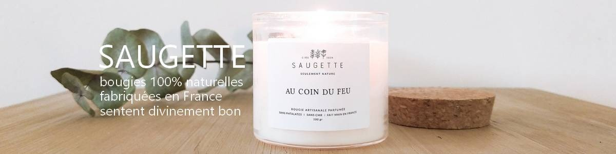 Saugette natural soy candle